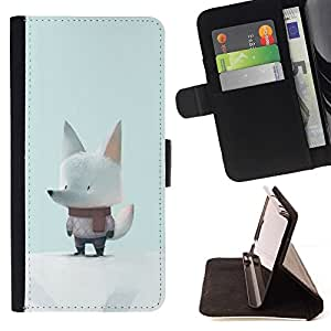 Momo Phone Case / Flip Funda de Cuero Case Cover - Mignon Écharpe - Apple Iphone 5 / 5S