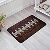 LuxSweet Doormat - Door mat Entrance Mat Floor Mat Rug Outdoor Home Office Bathroom Mats Non Slip Doormat (23.6' Length x15.7 Wide) (American Football)