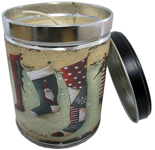 ny Homemade Sugar Cookie Scented Candle in 13 oz Tin with Christmas Stocking Label - Made in the USA by (Sugar Cookie Soy Candle)