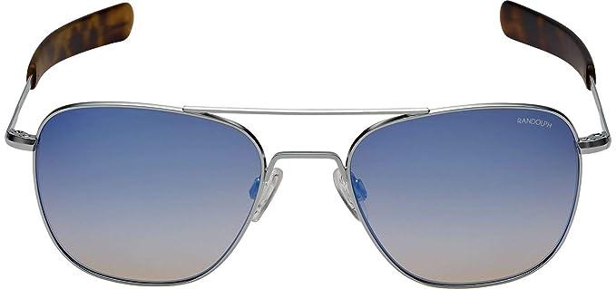 Randolph - Gafas de sol - para hombre Cromo mate 55 mm ...