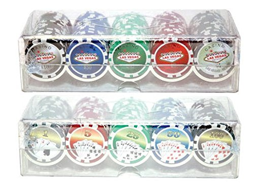 Poker Chips Las Vegas Casino (2 Pack - Las Vegas Poker Chip Set)