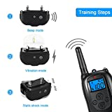 ALTMAN Dog Shock Collar 1000ft Remote Training, Rechargeable and IPX 7 Waterproof with Beep/Vibration/Shock Electric Collar for All Size Dogs