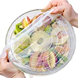 12-Pack various sizes Reusable, Durable and Expandable Airtight Silicone stretch lids for cover cups cans, plates, mugs, cups to keep your food fresh, fit all shaped bowls.