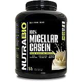 Cheap NutraBio 100% Micellar Casein – Slow Digesting Protein Powder (5 Pounds, Alpine Vanilla)