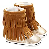Item Type: Snow BootsSeason: Spring,Summer,Autumn,Winter Weight: 100g-150g(approx) Size: S/M/L (Fit For 0-18 Months Baby) Note:Please choose the size by Sole Length, the age is just for reference.Specifications: Size--------Sole Length-------...
