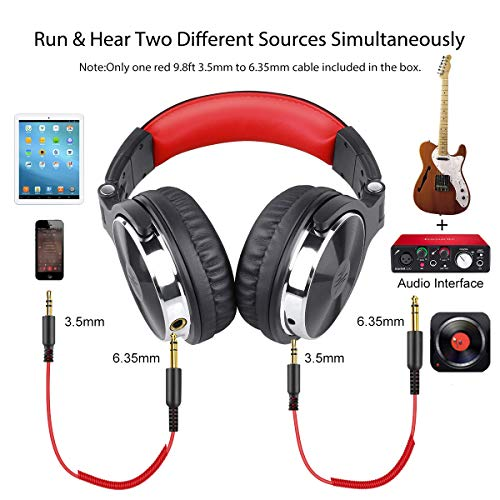 OneOdio Over Ear Headphone, Wired Bass Headsets with 50mm Driver, Foldable Lightweight Headphones with Shareport and Mic…