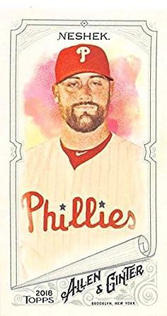 2018 Allen and Ginter Baseball Mini  238 Pat Neshek Philadelphia Phillies e615c300e