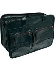 RoadPro SEB-001BK 17 x 12 Black Leather-Like Soft-Sided Briefcase