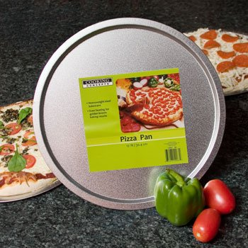 """Heavy Gauge Steel 12 Pizza Pan Fits in 12"""" Inch Toaster Ovens"""