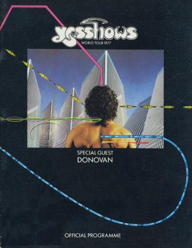 Yes 1977 Tour Concert Program Programme Tourbook Donovan