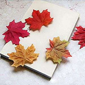 COCOScent Artificial Maple Leaves Approximately Assorted Mixed Fall Rich Artificial Flower Fall Colored Silk Maple Leaves for Weddings, Autumn Party,Events and Decorating Hardwork (600pcs, 6colors) 15