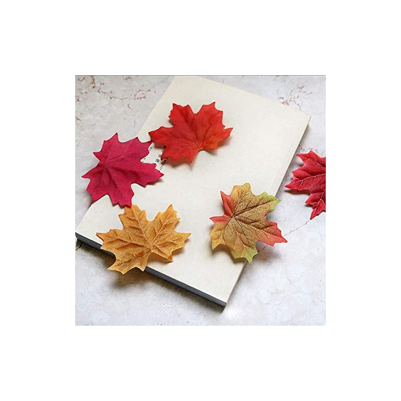 silk flower arrangements cocoscent artificial maple leaves approximately assorted mixed fall rich artificial flower fall colored silk maple leaves for weddings, autumn party,events and decorating hardwork (600pcs, 6colors)
