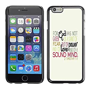 Planetar® ( Quote Religion Love Christianity Catholic ) Apple (5.5 inches!!!) iPhone 6+ Plus / 6S+ Plus Fundas Cover Cubre Hard Case Cover