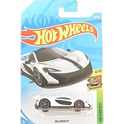 Hot Wheels 2020 50th Anniversary HW Exotics McLaren P1 170/365, White: Toys & Games