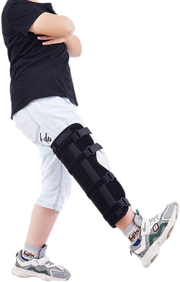 PINGJIA Protector de Actividad de ortesis de férula Fija con Soporte de Rodilla Ajustable para niños, Unisex para Antes y después de la cirugía, inmovilizador