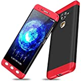 nKarta LeEco Letv Le 2/Le 2 Pro 5.5 GKK Back Case Cover 360 Degree Protection Phone Cases 3-in-1 Hybrid Hard PC - Red/Black