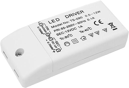 Transformateur de Tension Durable TS-090 pour Alimentation de Pilote 85-265V /à 12V LED pour convertisseur de Puissance portatif MR16 MR11 pour Les Cadeaux de No/ël