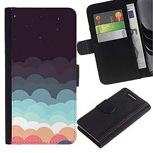 Stuss Case / Funda Carcasa PU de Cuero - Nubes Sue?o Estrellas trullo Rosa Cielo Nocturno - Sony Xperia Z3 Compact