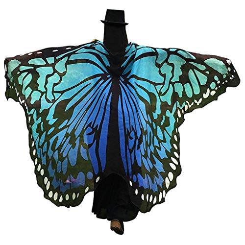GRACIN Halloween Butterfly Wings Shawl Soft Fabric Fairy Pixie Morpho Costume (78