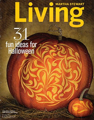 Martha Stewart Living October 2013 Halloween Issue, Pumpkins, Tattooed Owls, Spider-web Cookies, Haunted-house Treat Bags
