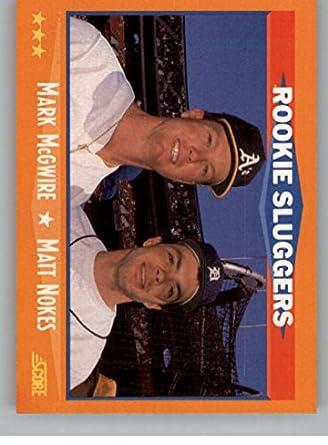 Amazoncom Baseball Mlb 1988 Score 648 Mark Mcgwirematt