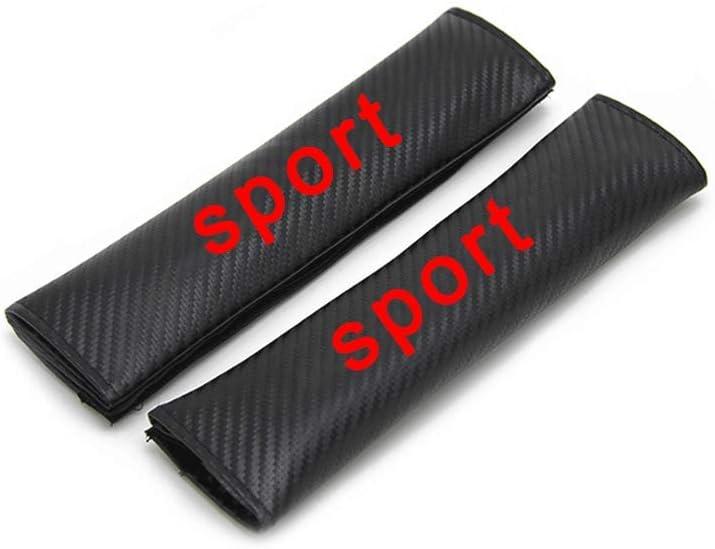 Volvo Logo Carbon Car Safety Seat Belt Shoulder Pads Comfortable /& Stylish