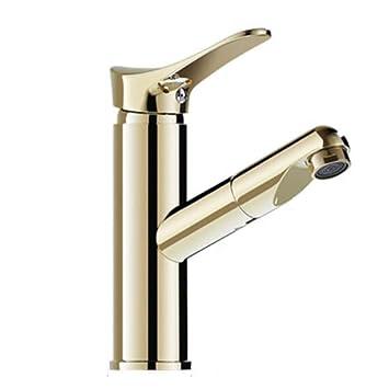 Jruia Gold Ausziehbar Bad Wasserhahn Waschtischarmatur Mit