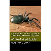 A Homeopathic Proving of Lampona Cylindrata (Lam-c): White-Tailed Spider (Experience of Medicine |  Hahnemannian Provings Book 2)