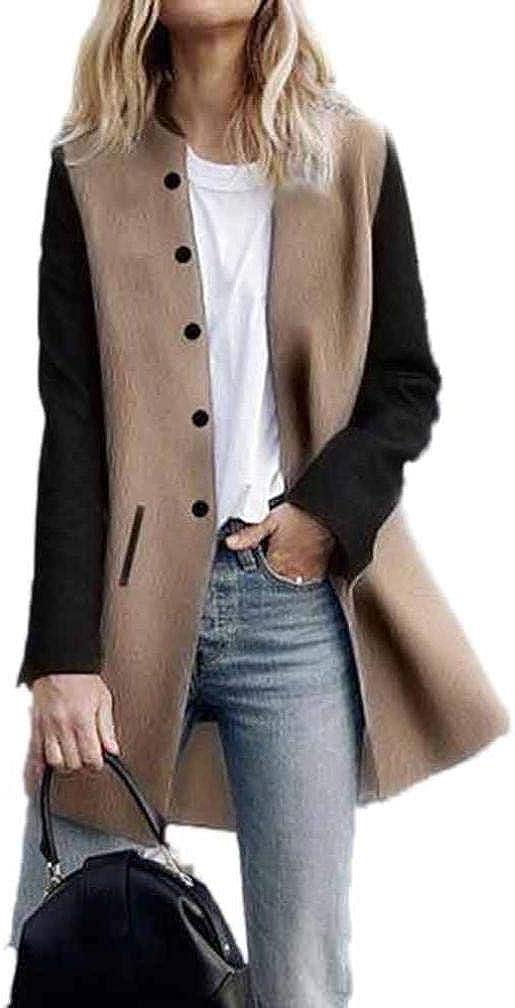 Overdose Chaqueta para Mujer De Manga Larga Casual Chaqueta Lady Coat Jumper Knitwear Nuevas Tapas Superiores