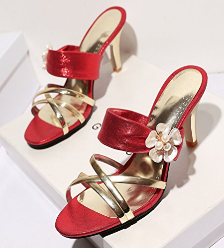 Mules HiTime Mules Femme HiTime Red HiTime Red Femme SBzxgq
