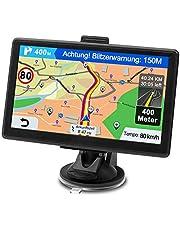 Nawigacja GPS do samochodu, nawigacja do samochodów osobowych i ciężarowych, 7 cali, dożywotnia bezpłatna aktualizacja map, system nawigacji z POI, ostrzeżenie o fotoradarach, prowadzenie głosowe, ślad jazdy 2021 Europa UK 52 mapy