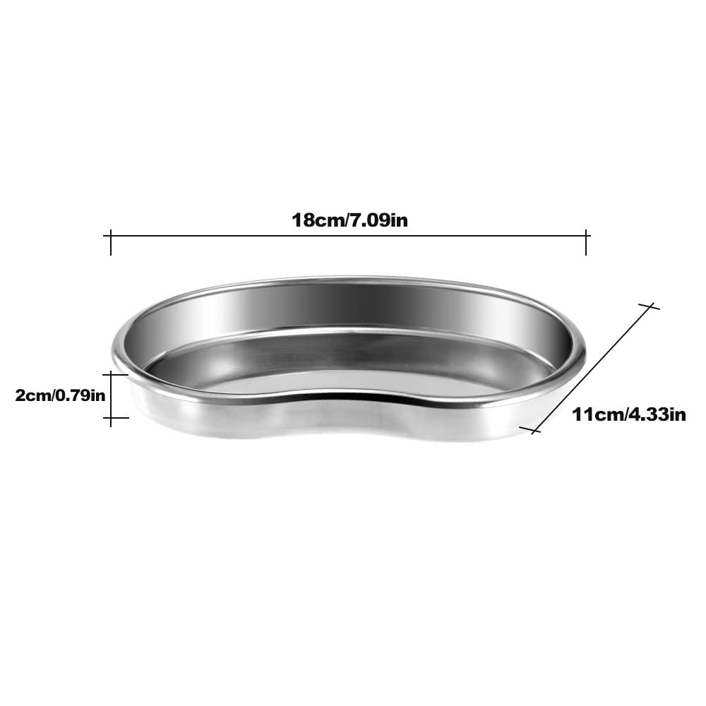 Stainless Steel Bending Kidney Tray Disinfection Plate Surgical Medical Dental Eyebrow Lip Tattoo by AppleLand (Image #3)