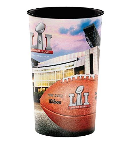 Creative Converting 321488 20 Count Super Bowl LI Plastic Souvenir (22 Ounce Bowl)