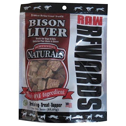 Freeze Dried Bison Treats - Northwest Naturals Raw Rewards Freeze Dried Bison Liver Treats 3 Ounces