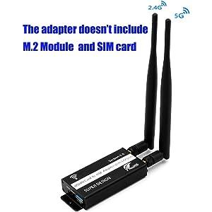 Amazon.com: SUPERPLUS Mini PCI-E Adapter with SIM Card Slot ...