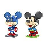 Gooband®LOZ Mickey Mouse Transformers Set Pack of 2 Diamond Nanoblock Educational Toy 480pcs