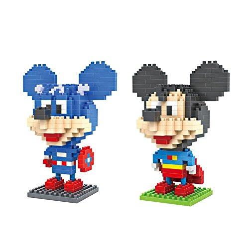 Gooband®LOZ Mickey Mouse Transformers Set Pack of 2 Diamond Nanoblock Educational Toy 480pcs by LOZ