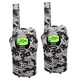 Walkie Talkies for Kids, UOKOO Kids Walkie Talkies 22 Channel FRS/GMRS Two Way Radio Up to 3KM UHF Handheld Walkie Talkies, Toys for 5-year Old Boys, Gifts for 7-year Old Boys and Girls (Camo)
