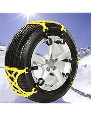 Sedeta – Corrente de segurança para carro off-road SUV segura para roda de neve e pneus de neve com espessamento de emergência antiderrapante amarelo para SUV C
