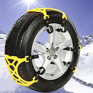 Sedeta® coche Cadena de seguridad Off-Road SUV Neumático seguro neumático Cadenas de rueda Emergencia espesamiento Antideslizante Cinturón Amarillo para SUV ...