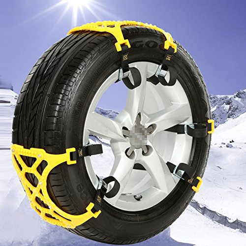 Sedeta car Security Chain Off-Road SUV Safe Snow Tire Wheel Chains Emergency Thickening Anti-skid Belt Yellow for
