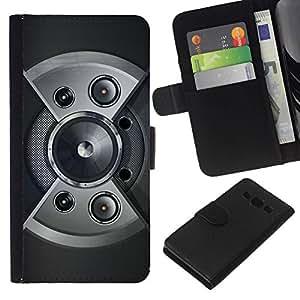 // PHONE CASE GIFT // Moda Estuche Funda de Cuero Billetera Tarjeta de crédito dinero bolsa Cubierta de proteccion Caso Samsung Galaxy A3 / Speaker Design /