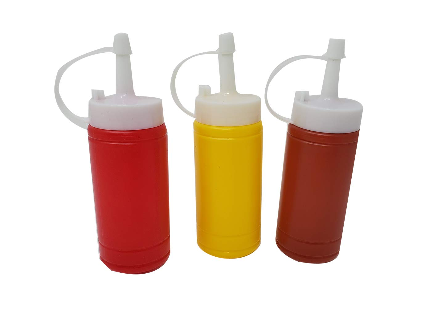 Mini Condiment Dispenser Set Ketchup, Mustard & BBQ sauce (12 bottles) squeeze bottles 6 Oz. by aaco (Image #3)