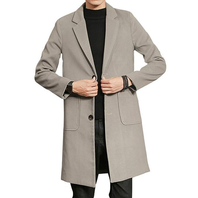 Gabardina Larga Hombres Nnen Abrigo De Moda Gabardina Cómoda Outwear Cálida Vintage Y Abrigo Informal Outwear: Amazon.es: Ropa y accesorios