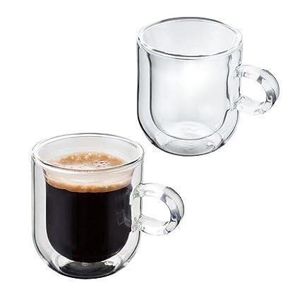b773812834f Judge Double Walled Espresso Glasses Set of 2, Borosilicate, 75ml:  Amazon.co.uk: Kitchen & Home