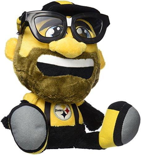 Pittsburgh Steelers Teddy Bear - NFL Pittsburgh Steelers Study Buddy Mascot, Medium, Yellow