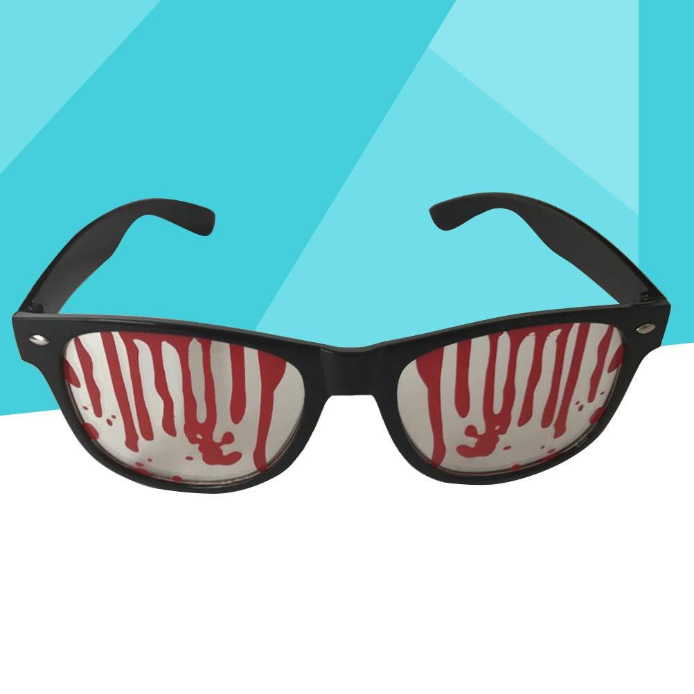 LUOEM Espejuelos de Fiesta de Halloween Vasos de Vampiro sangrientos Espejuelos de Miedo creativos Accesorios de Fotos de Halloween para Fiesta de Disfraces Negro