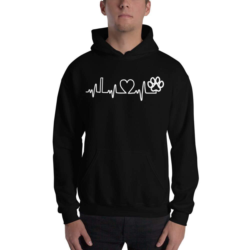 Dog Heart Beat Gildan 18500 Unisex Heavy Blend Hooded Sweatshirt