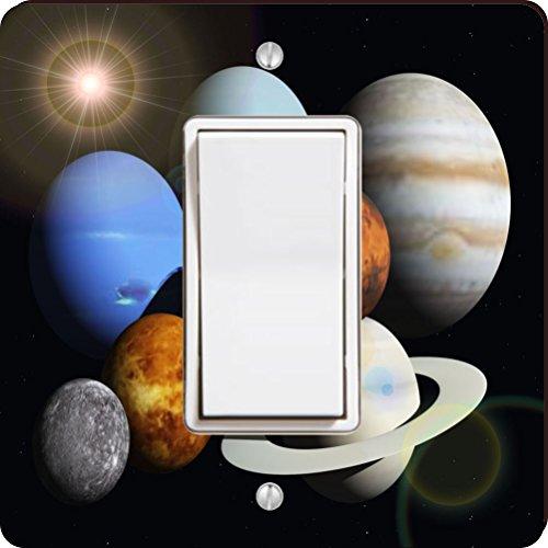 Rikki Knight Solar System Planets Single Rocker Light Switch Plate by Rikki Knight
