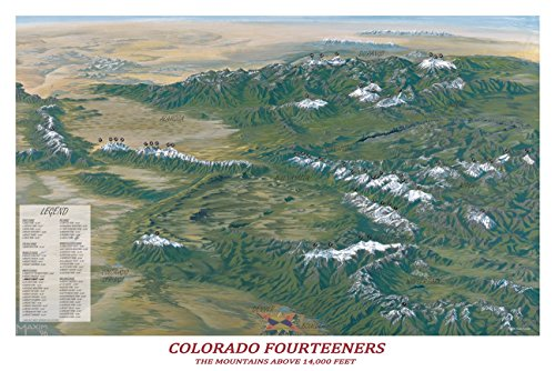 Colorado Fourteeners Poster